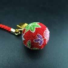 Japanese Omamori Amulet Shirasaki Shrine Luck fortune Chirimen Bell Red
