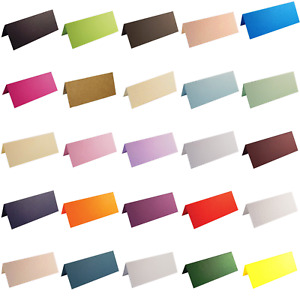 100 Blank Table Name Place Cards, Many Colours -  Parties, Wedding, Christmas