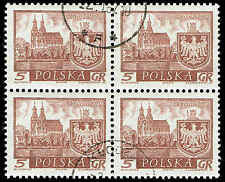 Scott # 947 - 1960 - ' Gniezno ', Historic Towns - Block of 4