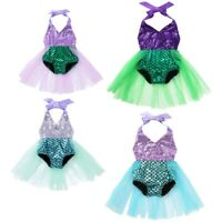 Baby Girls 1st Birthday Party Dress Outfit Mermaid Romper Cake Smash Costume Set