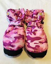 Carhartt Girl Pink Camo Black Gloves Snow Winter Mitten Xl
