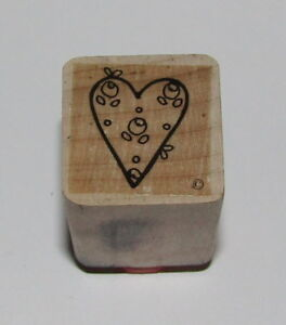 Rosebuds HEART Rubber Stamp Close To My Heart Flowers Love Roses #2