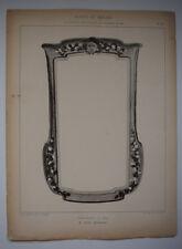 JEAN CHERRIER Glaces Miroirs EMILE THEZARD Gravure ART NOUVEAU Exposition 1902