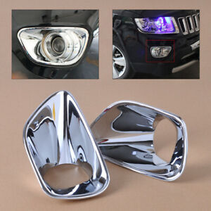 Decor Fit for Jeep Grand Cherokee 11-13 Fashion Chrome Front Fog Lamp Cover Trim