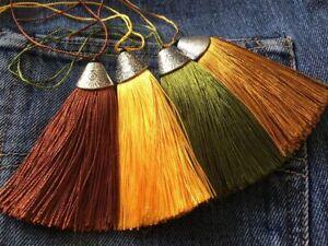 lot de 4 pendentif pompon en alliage argent tibétain