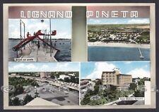 UDINE LIGNANO SABBIADORO 21 PINETA - VEDUTINE Cartolina FOTOGRAF viaggiata 1962