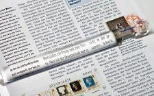 Lupenlineal Leselineal mit 2,5 facher Vergrößerung ideal zum Tabellen lesen Lu27