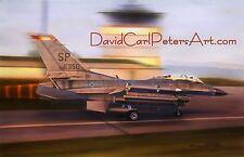 """F-16D """"Viper""""... Aviation Art by David Carl Peters"""