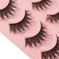 5 Pairs Natural Makeup Long Fake Eye Lashes Handmade Thick False Eyelashes