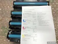 HP Toner Set 410A: CF410A, CF411A, CF412A, CF413A für M452xx, M377xx BITTE LESEN