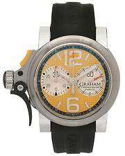 GRAHAM CHRONOFIGHTER OVERSIZE TRIGGER 46mm AUTOMATIC MEN'S WATCH $8,370
