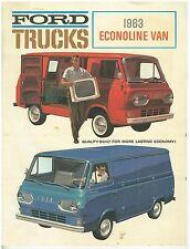 1963 Ford Econoline Sales Brochure  Vintage and Original