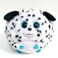 "TY BEANIE BALLZ Valentines Day Rascal Dalmatian Dog 5"" New Cute Stuffed Plush"