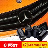 BLACK Mercedes AMG Car Tyre Stems Valve Dust Cover Caps C63 A C E S CLA A45 200