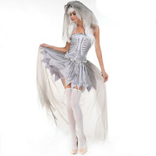 New Womens Ladies Sexy Ghost Bride Halloween Costume Fancy Party Dress ladcos22