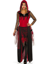 Dark Beauty Women Vampire Gothic Red Riding Hood Halloween Costume-STD