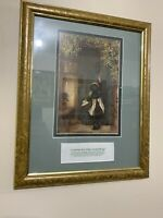 The Visitor By Arthur Hopkins Replica Custom Framed W/Irish Blessing Stunning!!