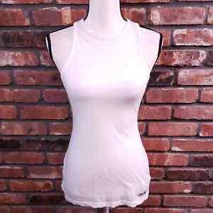 Gymshark White Open Back Workout Tank High Neck Gym Activewear Women's Sz XS