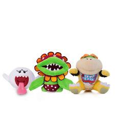 3pcs Super Mario Boo Ghost & Petey Piranha & Bowser Jr. Koopa Plush Doll Toy