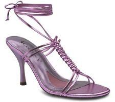 Metallic Pink Goddess Shoes Fairy Ankle Wrap Heels Halloween Costume Sz 7 $70
