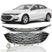 Fit Chevrolet Malibu 2019 2020 Front Upper Grille Lower Grille Chrome 3PCS