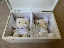 Rare Collectible Hello Kitty and Daniel Vivitix Wedding Plush set in Wooden box