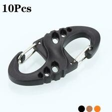 10pcs Outdoor 8-shaped Camping Mountaineer Kettle Buckle Hanging Hook Backpack