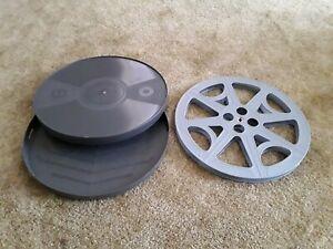 1  *NEW* 16mm  2000'/2300'  EMPTY  PLASTIC  REEL & CAN  SET    ( GRAY )