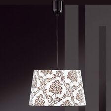 Honsel lámpara colgante 1 Luz Negro Pantalla Blanco Decoración Cocina ess