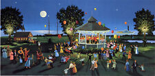 Sally Caldwell Fisher - Concert on the Green, hand-signed serigraph