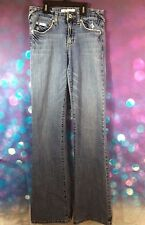 Baby Phat Distressed Blue Denim Jeans Ladies Juniors Size 3 Bootcut 25x33