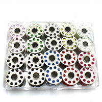 20 Nähmaschinenspulen Für Nähmaschine Metall Mit Garn Faden Nähgarn Spule