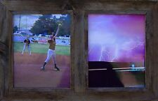 ANTIQUE, DOUBLE  8X10  BARN-WOOD PICTURE FRAME