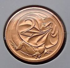 1986 Australia Two 2 Cent Copper Coin -  Choice Uncirculated from Mint Set
