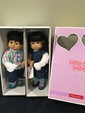 American Girl Bitty Twins Dolls Asian Black Hair Light Skin Almond Shaped eyes