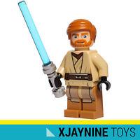 LEGO STAR WARS Clone Jedi General Obi Wan Kenobi Minifig (New Costume Version)