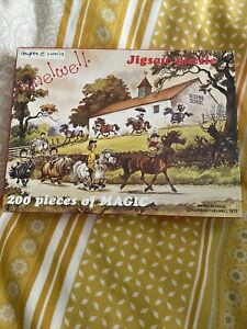 Riding School By Norman Thelwell 200 Pieces Jigsaw. Complete