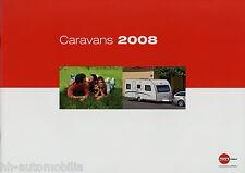 Prospekt Bürstner Caravans 2008 Wohnwagen Broschüre Premio Averso Belcanto