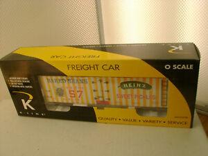 K-LINE O GAUGE K762-5203 HEINZ WOOD-SIDED REEFER FORT PITT DIVISION NEW IN BOX