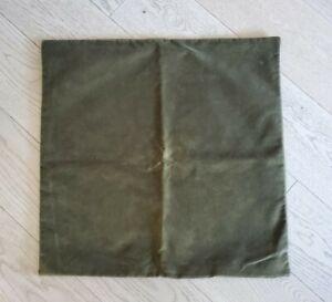 """Pottery Barn Velvet Pillow Cover Square Sham 20"""" X 20"""" Avocado Dark Green EUC"""
