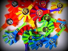 Ninjago -8 Hand Clappers - Party Favors Toys Birthday Pinata Prizes Noisemakers