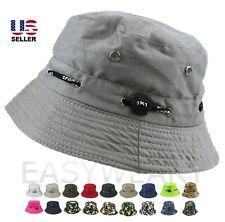 Bucket Hat Cap Cotton Fishing Boonie Brim Visor Sun Safari Summer Camping Men