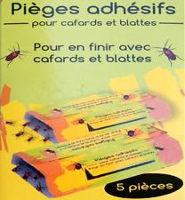 5 Pièges adhésifs Anti Cafard et Blatte sans poison ,et odeur