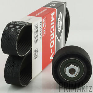 Gates V-Ribbed 7PK1035 + Tension Pulley Renault Clio III IV Twingo II 1.2