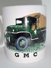 BN GMC Military Truck Stoneware Mug , Military Vehicle, vintage military lorry