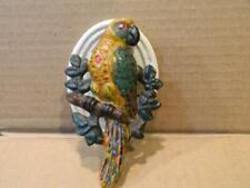 Hubley Cast Iron Parrot on a Branch Door Knocker Original Paint 1920's