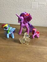 Assorted My Little Pony Bundle Four Different Types & Size Ponys Great Gift