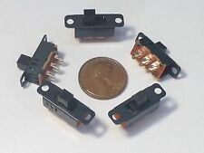 5 PCS Mini DPDT Slide Switch On/Off/On PCB 6P 23.3x7.3mm pitch row 19mm toggle