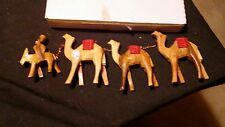 Hand Carved Olive Wood Nativity Camels From the West Bank