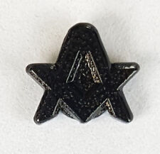 Masonic Square Compasses Tiny Black Lapel Pin Mason Freemason